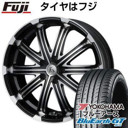 新発売の タイヤはフジ 送料無料 TECHNOPIA テクノピア カシーナ V-1 7.5J 7.50-18 YOKOHAMA ブルーアース GT AE51 225/45R18 18インチ サマータイヤ ホイール4本セット, トウヨウムラ 0a65ae38