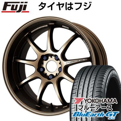 タイヤはフジ 送料無料 WORK ワーク エモーション D9R 7J 7.00-17 YOKOHAMA ブルーアース GT AE51 215/55R17 17インチ サマータイヤ ホイール4本セット