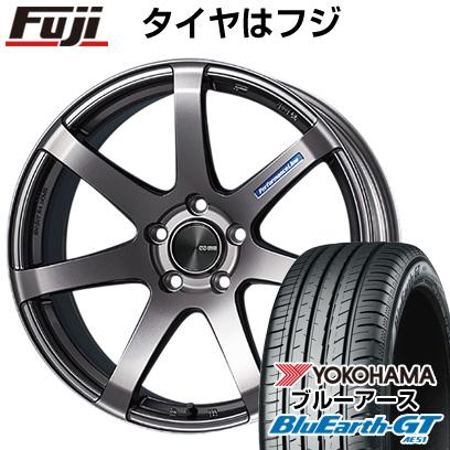 タイヤはフジ 送料無料 ENKEI エンケイ PF07 6.5J 6.50-16 YOKOHAMA ブルーアース GT AE51 185/55R16 16インチ サマータイヤ ホイール4本セット