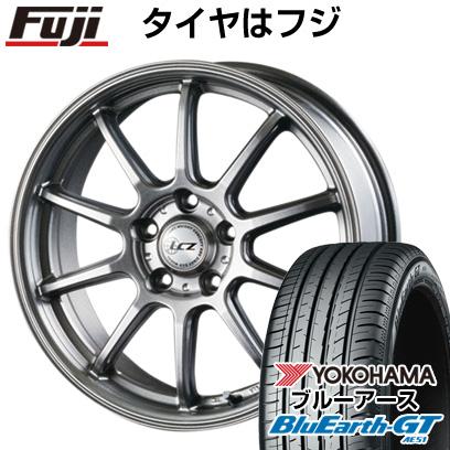 タイヤはフジ 送料無料 INTER MILANO インターミラノ LCZ 010 7J 7.00-17 YOKOHAMA ブルーアース GT AE51 215/45R17 17インチ サマータイヤ ホイール4本セット