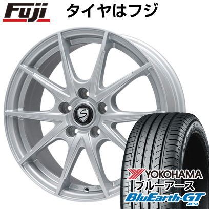 タイヤはフジ 送料無料 BRANDLE ブランドル 039 7.5J 7.50-18 YOKOHAMA ブルーアース GT AE51 225/40R18 18インチ サマータイヤ ホイール4本セット