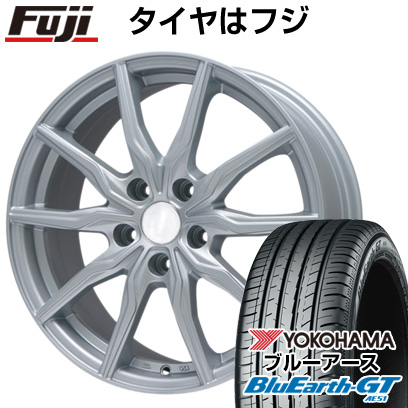 タイヤはフジ 送料無料 BRANDLE ブランドル 008 6.5J 6.50-16 YOKOHAMA ブルーアース GT AE51 195/50R16 16インチ サマータイヤ ホイール4本セット