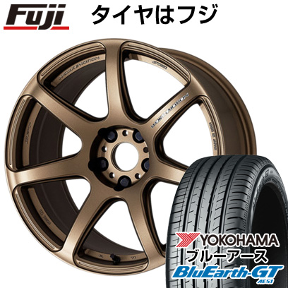タイヤはフジ 送料無料 WORK ワーク エモーション T7R 6.5J 6.50-16 YOKOHAMA ブルーアース GT AE51 195/45R16 16インチ サマータイヤ ホイール4本セット