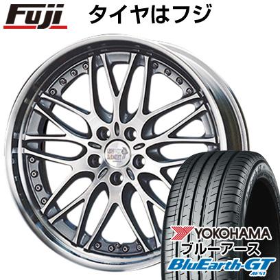 最新 タイヤはフジ 送料無料 SUPER STAR スーパースター レオンハルト ビューゲル 7.5J 7.50-18 YOKOHAMA ブルーアース GT AE51 235/50R18 18インチ サマータイヤ ホイール4本セット, パインバリュー 73400841