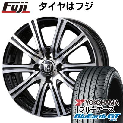 タイヤはフジ 送料無料 KOSEI コーセイ プラウザー ガナール 6J 6.00-16 YOKOHAMA ブルーアース GT AE51 195/45R16 16インチ サマータイヤ ホイール4本セット