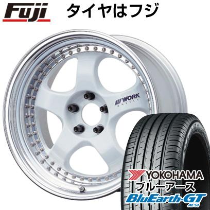 タイヤはフジ 送料無料 WORK ワーク マイスター S1 3P 7.5J 7.50-18 YOKOHAMA ブルーアース GT AE51 215/40R18 18インチ サマータイヤ ホイール4本セット