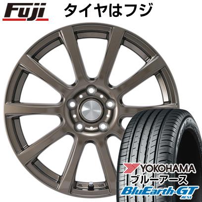 タイヤはフジ 送料無料 カジュアルセット タイプB17 ブロンズ 6.5J 6.50-16 YOKOHAMA ブルーアース GT AE51 215/60R16 16インチ サマータイヤ ホイール4本セット