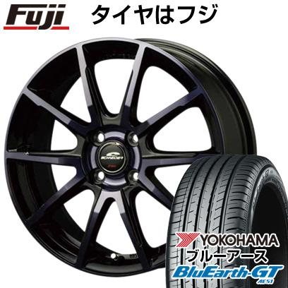 タイヤはフジ 送料無料 MID シュナイダー DR-01 6J 6.00-16 YOKOHAMA ブルーアース GT AE51 185/55R16 16インチ サマータイヤ ホイール4本セット