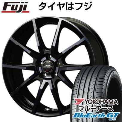 タイヤはフジ 送料無料 MID シュナイダー DR-01 6.5J 6.50-16 YOKOHAMA ブルーアース GT AE51 205/55R16 16インチ サマータイヤ ホイール4本セット