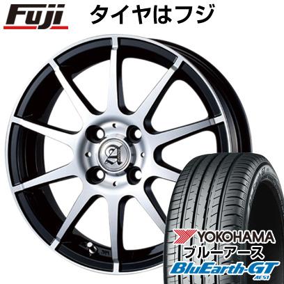 タイヤはフジ 送料無料 TECHNOPIA テクノピア アドニス HSR 5.5J 5.50-15 YOKOHAMA ブルーアース GT AE51 185/60R15 15インチ サマータイヤ ホイール4本セット