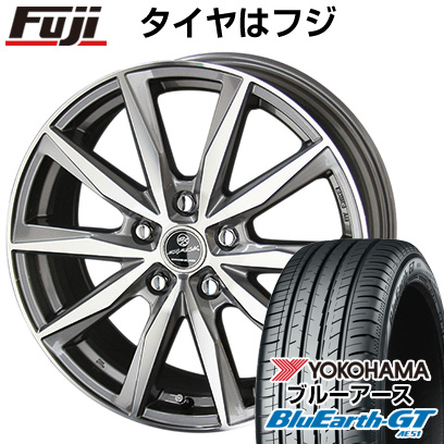 7/25はエントリーでポイント15倍 タイヤはフジ 送料無料 KYOHO 共豊 スマック プライム バサルト 7J 7.00-17 YOKOHAMA ブルーアース GT AE51 205/50R17 17インチ サマータイヤ ホイール4本セット
