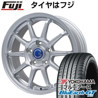 タイヤはフジ 送料無料 BRANDLE ブランドル M60 6.5J 6.50-16 YOKOHAMA ブルーアース GT AE51 185/55R16 16インチ サマータイヤ ホイール4本セット