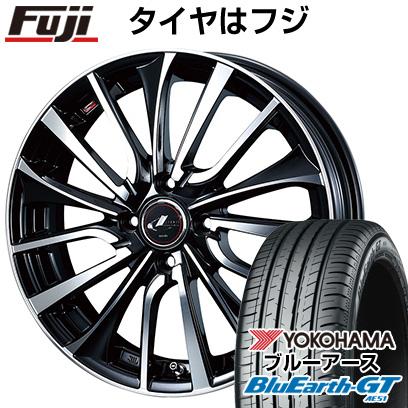 タイヤはフジ 送料無料 WEDS ウェッズ レオニス VT 4.5J 4.50-14 YOKOHAMA ブルーアース GT AE51 155/65R14 14インチ サマータイヤ ホイール4本セット