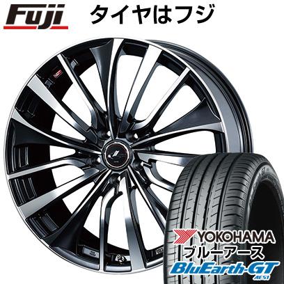 【送料無料】 205/60R16 16インチ WEDS ウェッズ レオニス VT 6.5J 6.50-16 YOKOHAMA ヨコハマ ブルーアース GT AE51 サマータイヤ ホイール4本セット