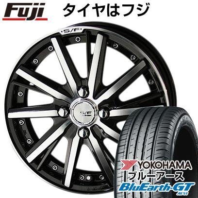 タイヤはフジ 送料無料 KYOHO 共豊 シュタイナーフォースド SF-V 6J 6.00-16 YOKOHAMA ブルーアース GT AE51 185/55R16 16インチ サマータイヤ ホイール4本セット