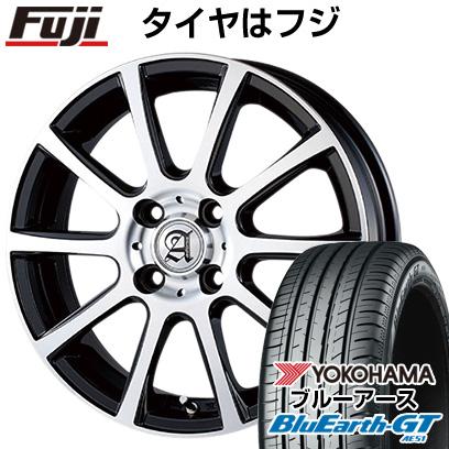 タイヤはフジ 送料無料 TECHNOPIA テクノピア アドニス ISR 5.5J 5.50-15 YOKOHAMA ブルーアース GT AE51 185/60R15 15インチ サマータイヤ ホイール4本セット