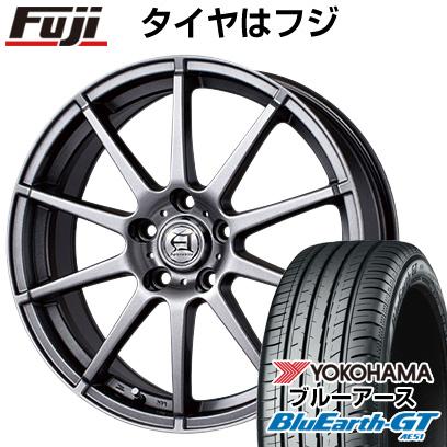 タイヤはフジ 送料無料 TECHNOPIA テクノピア アフロディーテ HS 7.5J 7.50-18 YOKOHAMA ブルーアース GT AE51 225/50R18 18インチ サマータイヤ ホイール4本セット