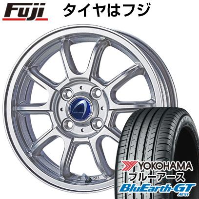 タイヤはフジ 送料無料 TECHNOPIA テクノピア アルテミス LSW 4.5J 4.50-14 YOKOHAMA ブルーアース GT AE51 155/65R14 14インチ サマータイヤ ホイール4本セット