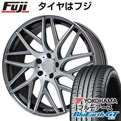 タイヤはフジ 送料無料 LEHRMEISTER レアマイスター キャンティ(BMCポリッシュ) 8J 8.00-18 YOKOHAMA ブルーアース GT AE51 235/50R18 18インチ サマータイヤ ホイール4本セット