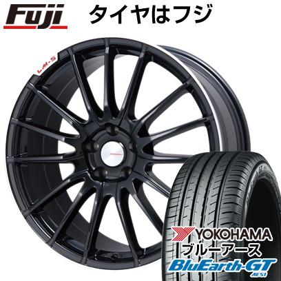 タイヤはフジ 送料無料 LEHRMEISTER LM-S トレント15 (ブラック/リムポリッシュ) 8.5J 8.50-19 YOKOHAMA ブルーアース GT AE51 235/35R19 19インチ サマータイヤ ホイール4本セット