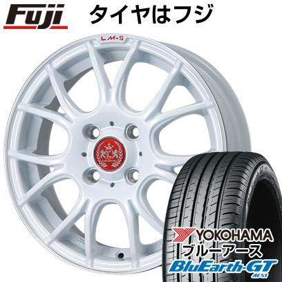 タイヤはフジ 送料無料 LEHRMEISTER LM-S ヴェネート7 (ホワイト/リムポリッシュ) 4.5J 4.50-14 YOKOHAMA ブルーアース GT AE51 155/65R14 14インチ サマータイヤ ホイール4本セット