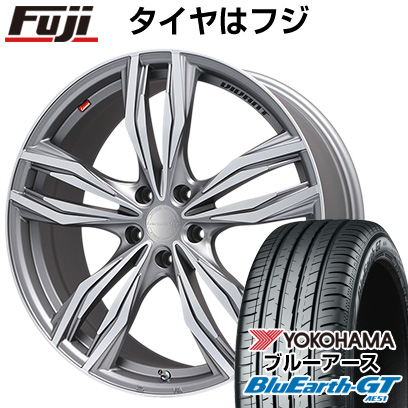 タイヤはフジ 送料無料 LEHRMEISTER レアマイスター ヴィヴァン(ガンメタマットポリッシュ) 7J 7.00-17 YOKOHAMA ブルーアース GT AE51 215/55R17 17インチ サマータイヤ ホイール4本セット