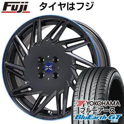 タイヤはフジ 送料無料 PREMIX プレミックス バリック パールブラックブルークリア限定 6.5J 6.50-16 YOKOHAMA ブルーアース GT AE51 195/55R16 16インチ サマータイヤ ホイール4本セット