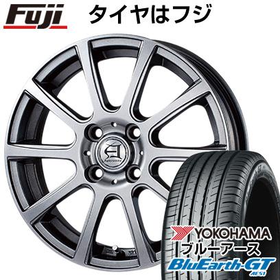 タイヤはフジ 送料無料 TECHNOPIA テクノピア アフロディーテ IS 4.5J 4.50-14 YOKOHAMA ブルーアース GT AE51 155/65R14 14インチ サマータイヤ ホイール4本セット