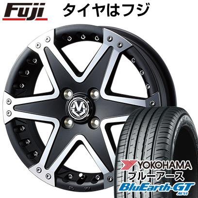 タイヤはフジ 送料無料 WEDS ウェッズ マッドヴァンス 01 5J 5.00-15 YOKOHAMA ブルーアース GT AE51 165/55R15 15インチ サマータイヤ ホイール4本セット