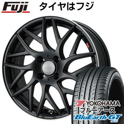 タイヤはフジ 送料無料 LEHRMEISTER レアマイスター キャンティ(マットブラック/リムポリッシュ) 6.5J 6.50-16 YOKOHAMA ブルーアース GT AE51 185/55R16 16インチ サマータイヤ ホイール4本セット