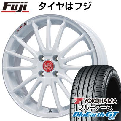 タイヤはフジ 送料無料 LEHRMEISTER LM-S トレント15 (ホワイト/リムポリッシュ) 6.5J 6.50-16 YOKOHAMA ブルーアース GT AE51 195/50R16 16インチ サマータイヤ ホイール4本セット