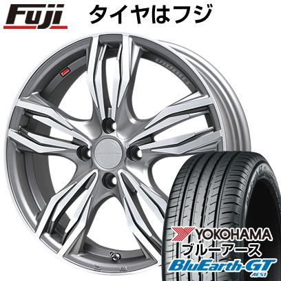 タイヤはフジ 送料無料 LEHRMEISTER レアマイスター ヴィヴァン(ガンメタマットポリッシュ) 6.5J 6.50-16 YOKOHAMA ブルーアース GT AE51 185/55R16 16インチ サマータイヤ ホイール4本セット