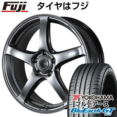 タイヤはフジ 送料無料 PIAA エレガンツァ S-01 7.5J 7.50-18 YOKOHAMA ブルーアース GT AE51 225/40R18 18インチ サマータイヤ ホイール4本セット