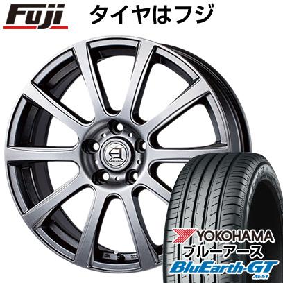 タイヤはフジ 送料無料 TECHNOPIA テクノピア アフロディーテ IS 7J 7.00-17 YOKOHAMA ブルーアース GT AE51 225/50R17 17インチ サマータイヤ ホイール4本セット