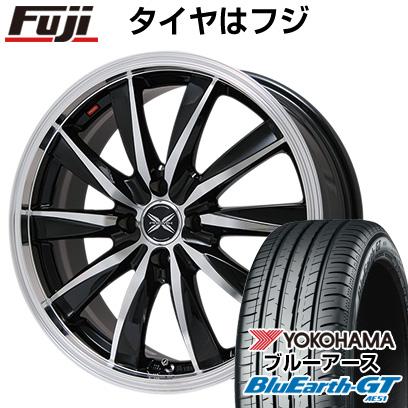 タイヤはフジ 送料無料 PREMIX プレミックス ルマーニュ(ブラックポリッシュ)限定 6J 6.00-15 YOKOHAMA ブルーアース GT AE51 195/65R15 15インチ サマータイヤ ホイール4本セット