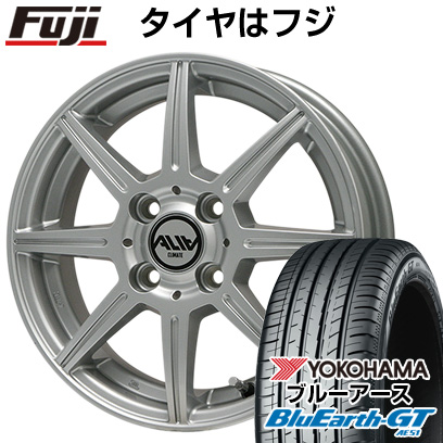 タイヤはフジ 送料無料 CLIMATE クライメイト アリア 4.5J 4.50-14 YOKOHAMA ブルーアース GT AE51 155/65R14 14インチ サマータイヤ ホイール4本セット