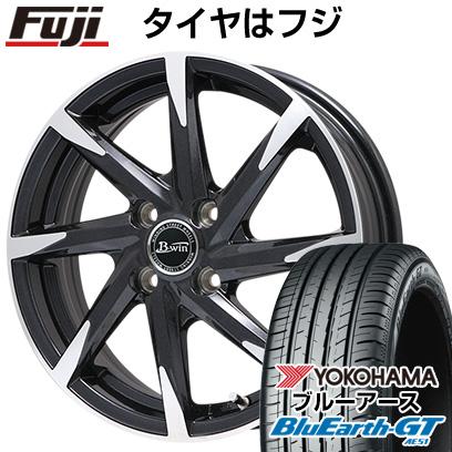 タイヤはフジ 送料無料 BIGWAY ビッグウエイ B-WIN ゼナート 8(ブラックポリッシュ) 5.5J 5.50-15 YOKOHAMA ブルーアース GT AE51 195/65R15 15インチ サマータイヤ ホイール4本セット