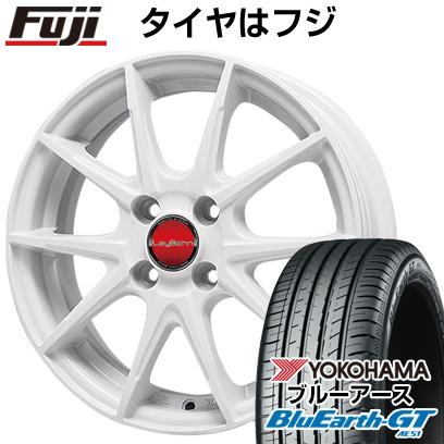 タイヤはフジ 送料無料 BIGWAY ビッグウエイ LEYBAHN WGS 5.5J 5.50-15 YOKOHAMA ブルーアース GT AE51 185/60R15 15インチ サマータイヤ ホイール4本セット