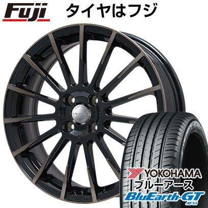 タイヤはフジ 送料無料 BIGWAY ビッグウエイ LEYSEEN F-XV 6.5J 6.50-16 YOKOHAMA ブルーアース GT AE51 195/55R16 16インチ サマータイヤ ホイール4本セット