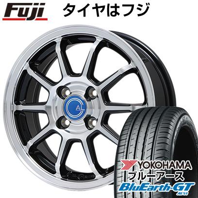 タイヤはフジ 送料無料 BRANDLE ブランドル M60B 6J 6.00-15 YOKOHAMA ブルーアース GT AE51 185/60R15 15インチ サマータイヤ ホイール4本セット