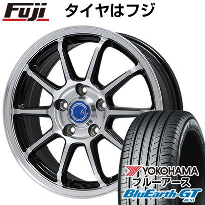 タイヤはフジ 送料無料 BRANDLE ブランドル M60B 6.5J 6.50-16 YOKOHAMA ブルーアース GT AE51 195/50R16 16インチ サマータイヤ ホイール4本セット