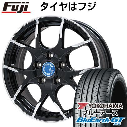 品質が タイヤはフジ 送料無料 BRANDLE-LINE ブランドルライン カルデス パールブラックポリッシュ 7.5J 7.50-18 YOKOHAMA ブルーアース GT AE51 235/45R18 18インチ サマータイヤ ホイール4本セット, 新富士バーナー 48398d50