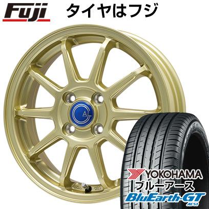 タイヤはフジ 送料無料 BRANDLE-LINE ブランドルライン カルッシャー ゴールド 5.5J 5.50-15 YOKOHAMA ブルーアース GT AE51 195/65R15 15インチ サマータイヤ ホイール4本セット