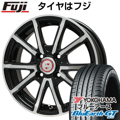 タイヤはフジ 送料無料 BIGWAY ビッグウエイ EXPLODE BPV 5.5J 5.50-15 YOKOHAMA ブルーアース GT AE51 185/55R15 15インチ サマータイヤ ホイール4本セット