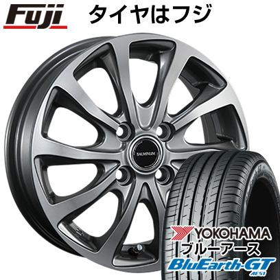 タイヤはフジ 送料無料 BRIDGESTONE ブリヂストン バルミナ TR10 6J 6.00-16 YOKOHAMA ブルーアース GT AE51 195/50R16 16インチ サマータイヤ ホイール4本セット