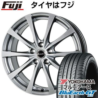 タイヤはフジ 送料無料 HOT STUFF ホットスタッフ エクシーダー E03 6.5J 6.50-16 YOKOHAMA ブルーアース GT AE51 215/60R16 16インチ サマータイヤ ホイール4本セット