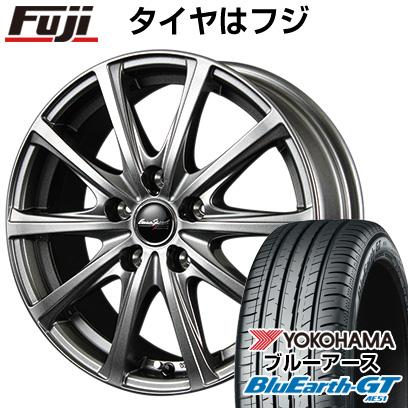 タイヤはフジ 送料無料 MID ユーロスピード V25 7J 7.00-17 YOKOHAMA ブルーアース GT AE51 215/45R17 17インチ サマータイヤ ホイール4本セット
