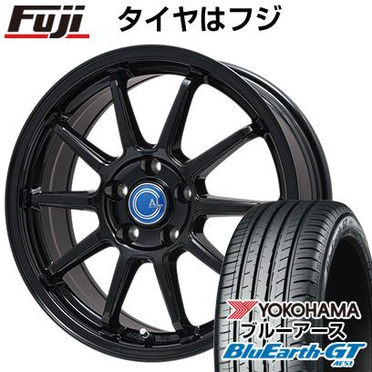 タイヤはフジ 送料無料 BRANDLE-LINE ブランドルライン カルッシャー ブラック 6J 6.00-15 YOKOHAMA ブルーアース GT AE51 195/65R15 15インチ サマータイヤ ホイール4本セット