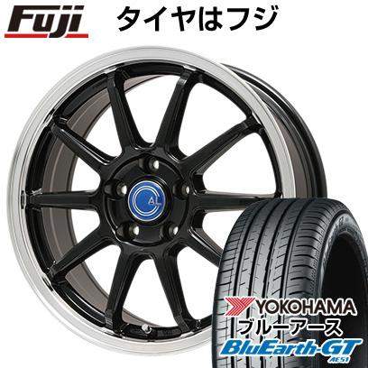 タイヤはフジ 送料無料 BRANDLE-LINE ブランドルライン カルッシャー ブラック/リムポリッシュ 6.5J 6.50-16 YOKOHAMA ブルーアース GT AE51 215/60R16 16インチ サマータイヤ ホイール4本セット