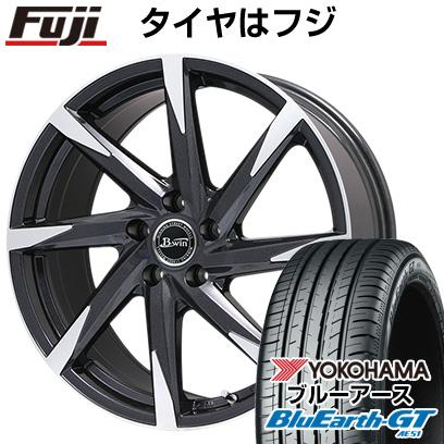 タイヤはフジ 送料無料 BIGWAY ビッグウエイ B-WIN ゼナート 8(ブラックポリッシュ) 7.5J 7.50-19 YOKOHAMA ブルーアース GT AE51 225/40R19 19インチ サマータイヤ ホイール4本セット